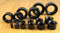 "Black Horn Eyelets 8g-1&1/2"" (Pair) 3mm-38mm"