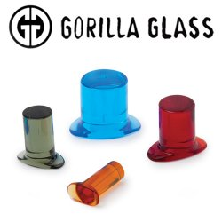 Gorilla Glass Simple Labrets 6 Gauge to 1/2""