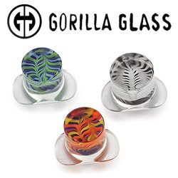 Gorilla Glass Feather Labrets 0 Gauge to 1""