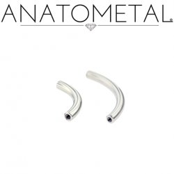 Anatometal Surgical Steel Internally Threaded Curved Barbell (Shaft Only, No Ends) 6g 4g