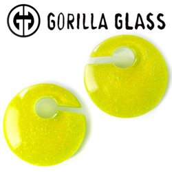 "Gorilla Glass Fused Dichroic Eclipse 4.2oz Ear Weights 7/8"" And Up (Pair)"