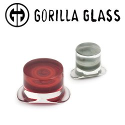 Gorilla Glass Colorfront Labrets 2 Gauge to 1""