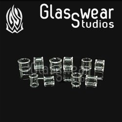 Glasswear Pyrex Glass Double Flare Clear Septum Eyelet/Retainer 4g - 1/2""