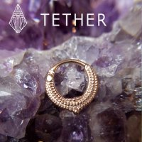 "Tether Jewelry Stainless Steel ""Melange\"" Clicker 14 Gauge 14g"