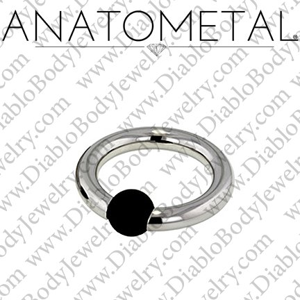 Anatometal Titanium Rubber Ball Captive Bead Ring 4 Gauge 4g