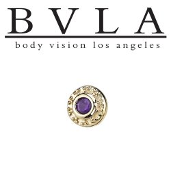 "BVLA 14Kt Gold ""Tiny Nanda"" Threadless End 18g 16g 14g ""Press-fit"""