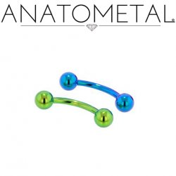 Anatometal Titanium Curved Barbell 10 gauge 10g