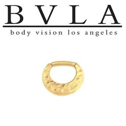 BVLA Quarencia 14kt Gold Septum Clicker 16g Body Vision Los Angeles