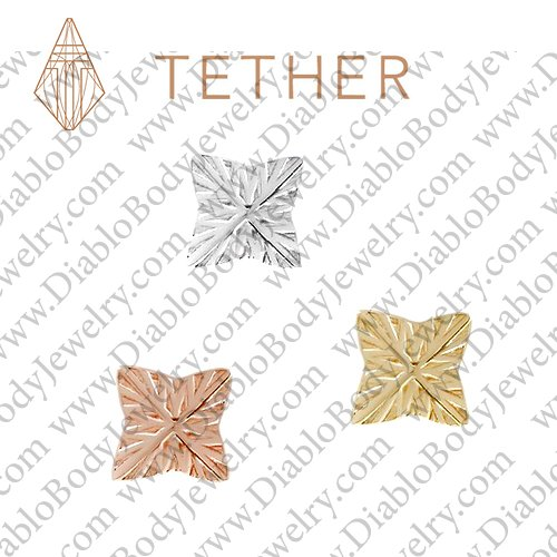 "Tether 14Kt Gold 4-Point Star Threadless End 18 Gauge 18g ""Press-fit"" - Click Image to Close"