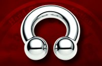 "Body Circle Surgical Stainless Steel 5/8"" Circular Horseshoe Barbell 0 Gauge 0g Sale!"
