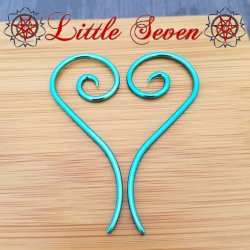 "Little Seven Niobium Small ""Nine"" Spirals 12 Gauge 12g (Pair)"