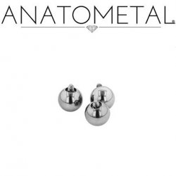 Anatometal Surgical Steel Threaded Ball End 18 Gauge 18g