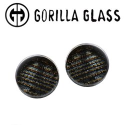 "Gorilla Glass Single Flare Iridescent Ear Plugs 0 Gauge to 1"" (Pair)"