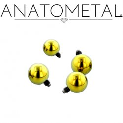 Anatometal Titanium Threaded Ball End 12 gauge 12g