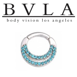 "BVLA 14kt Gold ""Janesca"" Nose Nostril Septum Ring 12 Gauge 12g Body Vision Los Angeles"