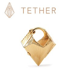 "Tether Jewelry Bronze ""Tetra"" Ear Weight Locket 10 Gauge 10g (Pair)"