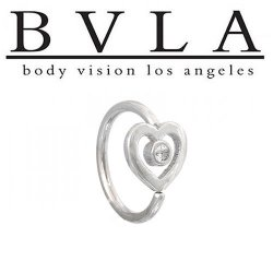 "BVLA 14kt Gold ""Heart of Paul"" Nose Nostril Daith Ring 18 Gauge 18g Body Vision Los Angeles"