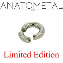 "Anatometal Surgical Steel 1"" Segment Ring 0 Gauge 0g Limited Edition"
