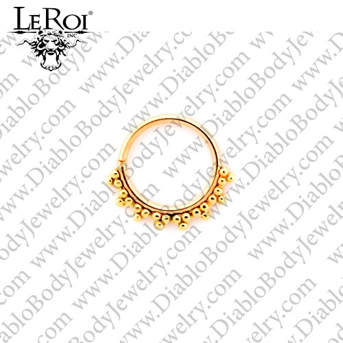 LeRoi 14kt Gold Talia Seam Ring 18 Gauge 18g - Click Image to Close