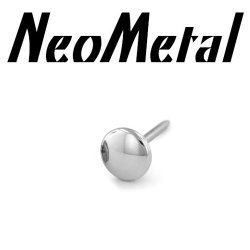 "18 Gauge 18g NeoMetal Threadless Titanium Disk 2.5mm ""Press-fit"""