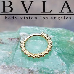 "Body Vision BVLA 14kt Gold ""Milo"" Seam Ring 18 Gauge 18g"