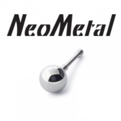 "16 Gauge 16g NeoMetal Threadless Titanium Ball 1/8"" ""Press-fit"""