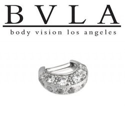 "BVLA Bombay Twilight - After Hours 14kt Gold Septum Ring Clicker 14g 1/4"" Body Vision Los Angeles"