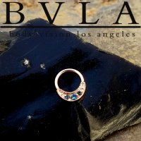 "BVLA 14kt Gold ""Lacey"" Nose Nostril Septum Ring 20g Body Vision Los Angeles"