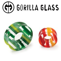 "Gorilla Glass Linear Eyelet Plugs 1"" to 3"" (Pair)"