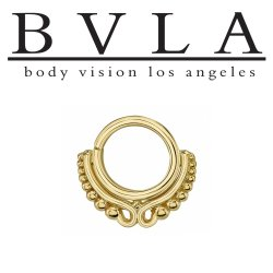 "Body Vision BVLA 14kt Gold ""Adele"" Nose Nostril Septum Ring 16 Gauge 16g"