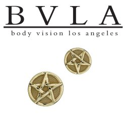 "BVLA 14Kt Gold ""Pentagram"" Threadless End 18g 16g 14g ""Press-fit"""