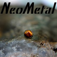 "18 Gauge 18g NeoMetal Threadless Titanium Cabochon Gem 2.5mm ""Press-fit"""