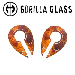 "Gorilla Glass Power Keyholes 0.4oz Ear Weights 9/16"" And Up (Pair)"