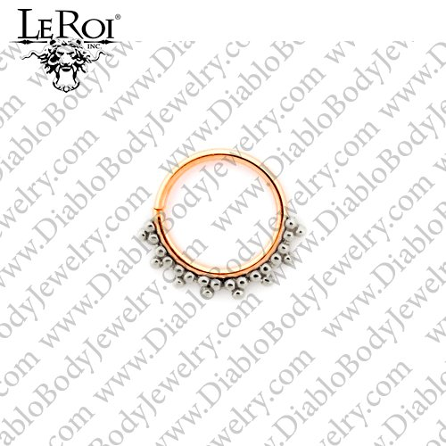 LeRoi 14kt Gold Talia Seam Ring 16 Gauge 16g - Click Image to Close
