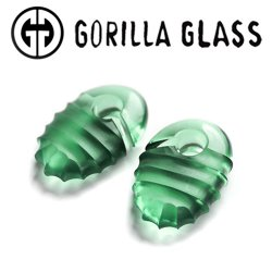 "Gorilla Glass Hive Ovoids 0.5oz Ear Weights 1/2"" And Up (Pair)"