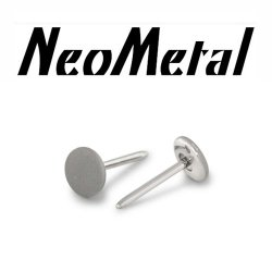 "16 Gauge 16g NeoMetal Threadless Titanium 2.5mm Textured Finish Disk ""Press-fit"""