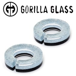 "Gorilla Glass Fused Dichroic Flat Saturns 2.5oz Ear Weights 3/4"" And Up (Pair)"