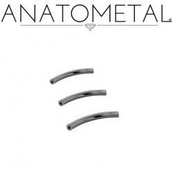Anatometal Niobium Internally Threaded Curved Barbell (Shaft Only, No Ends) 16g 14g 12g