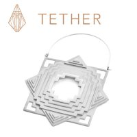"Tether Jewelry Stainless Steel ""Temple\"" Ear Hangers Earrings (Pair)"