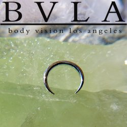 BVLA 14kt Gold Pincher Nose Nostril Septum Ring 14g Body Vision Los Angeles