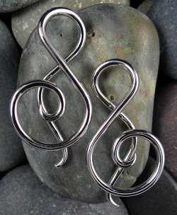 Little Seven Stainless Steel Shakti Spiral 14g 12g 10g (Pair)