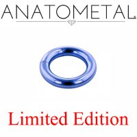 "Anatometal Titanium 13/16"" Segment Ring 4 Gauge 4g Limited Edition"