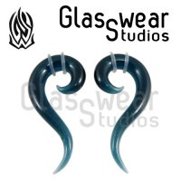 Glasswear Studios Glass Tail Spiral Hanging Design Pair 8g - 9/16""