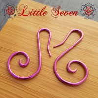"Little Seven Niobium Small ""Swan\"" Spirals 12 Gauge 12g (Pair)"