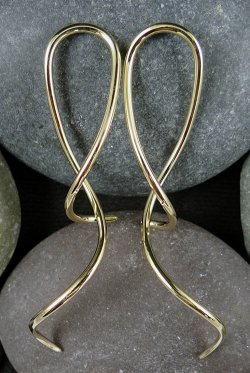 Little Seven Brass Spiral Twist Priestesses 14g 12g 10g 8g (Pair)