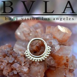 "BVLA 14kt Gold ""Kolo"" Nose Nostril Septum Daith Seam Ring 18 Gauge 18g Body Vision Los Angeles"
