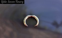 Little Seven Septum Pincher Crescent Ring 12 Gauge 10 Gauge 12g 10g