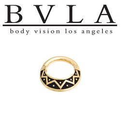 BVLA Anastazi 14kt Gold Septum Ring Clicker 14g Body Vision Los Angeles