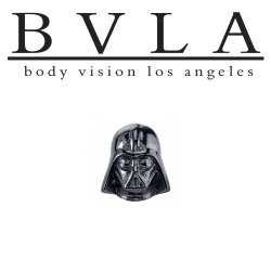 BVLA 14kt Gold Daith Vader Threaded End Dermal Top 18g 16g 14g 12g Body Vision Los Angeles