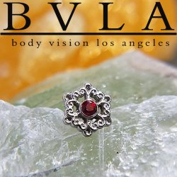 "BVLA 14kt Gold ""Chloe"" Threaded End Dermal Top 18g 16g 14g 12g Body Vision Los Angeles"